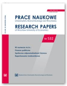 Spis treści [Prace Naukowe Uniwersytetu Ekonomicznego we Wrocławiu = Research Papers of Wrocław University of Economics; 2018; Nr 532]