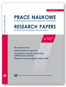 Spis treści [Prace Naukowe Uniwersytetu Ekonomicznego we Wrocławiu = Research Papers of Wrocław University of Economics; 2018; Nr 527]