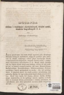 Mozajka złożona z wiadomości starożytniczych, dziejów sztuki, ułamków biograficznych i t. d.