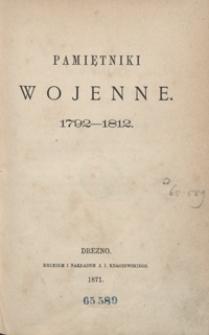 Pamiętniki wojenne: 1792-1812