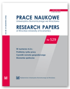 Spis treści [Prace Naukowe Uniwersytetu Ekonomicznego we Wrocławiu = Research Papers of Wrocław University of Economics; 2018; Nr 529]