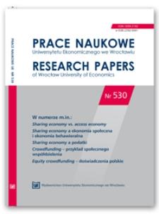 Spis treści [Prace Naukowe Uniwersytetu Ekonomicznego we Wrocławiu = Research Papers of Wrocław University of Economics; 2018; Nr 530]