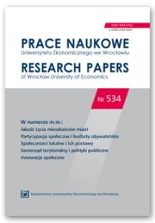 Spis treści [Prace Naukowe Uniwersytetu Ekonomicznego we Wrocławiu = Research Papers of Wrocław University of Economics; 2018; Nr 534]