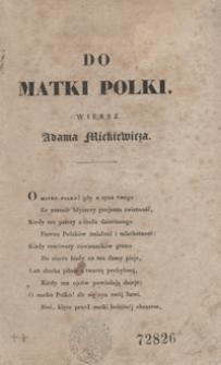 Do matki Polki : wiersz Adama Mickiewicza