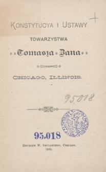 Konstytucya i Ustawy Towarzystwa Tomasza Zana, Chicago, Illinois