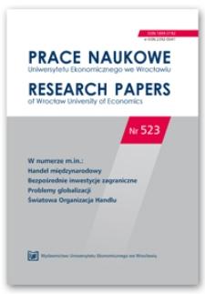 Znaczenie usług w globalnych łańcuchach wartości krajów Europy Środkowej i Wschodniej