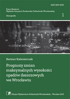 Prognozy zmian maksymalnych wysokości opadów deszczowych we Wrocławiu