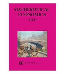 Contents [Mathematical Economics, 2010, Nr 6 (13)]