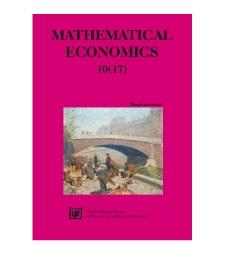 Contens [Mathematical Economics, 2014, Nr 10 (17)]