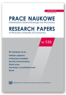 Spis treści [Prace Naukowe Uniwersytetu Ekonomicznego we Wrocławiu = Research Papers of Wrocław University of Economics; 2018; Nr 536]