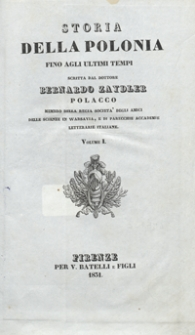 Storia della Polonia fino agli ultimi tempi. Volume I