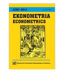 Contents [Ekonometria = Econometrics, 2012, Nr 2 (36)]