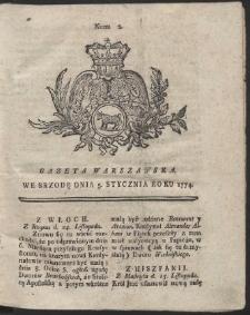 Gazeta Warszawska. R.1774 Nr 2