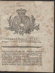 Gazeta Warszawska. R.1774 Nr 7