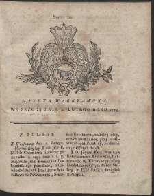 Gazeta Warszawska. R.1774 Nr 10
