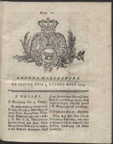 Gazeta Warszawska. R.1774 Nr 12