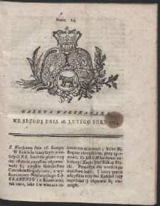 Gazeta Warszawska. R.1774 Nr 14