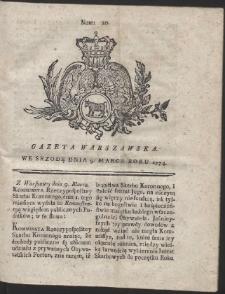 Gazeta Warszawska. R.1774 Nr 20