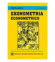 Contents [Ekonometria = Econometrics, 2012, Nr 3 (37)]