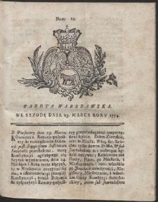 Gazeta Warszawska. R.1774 Nr 24