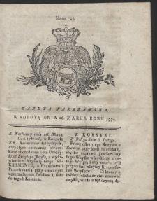 Gazeta Warszawska. R.1774 Nr 25