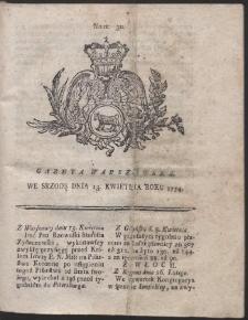 Gazeta Warszawska. R.1774 Nr 30