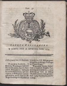 Gazeta Warszawska. R.1774 Nr 31