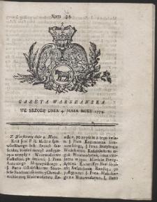 Gazeta Warszawska. R.1774 Nr 36