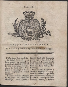 Gazeta Warszawska. R.1774 Nr 39