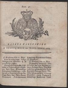 Gazeta Warszawska. R.1774 Nr 41