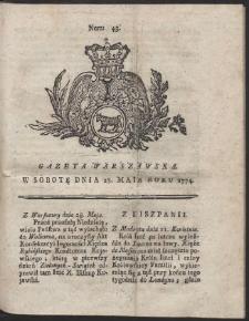 Gazeta Warszawska. R.1774 Nr 43