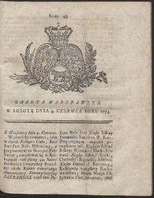 Gazeta Warszawska. R.1774 Nr 45