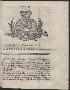 Gazeta Warszawska. R.1774 Nr 48