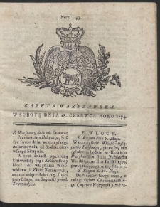 Gazeta Warszawska. R.1774 Nr 49