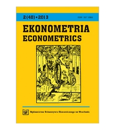 Spis treści [Ekonometria = Econometrics, 2013, Nr 2 (40)]