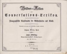 Bilder-Atlas zum Conversations-Lexikon : ikonographische Encyklopädie der Wissenschaften und Künste. Zehnte Abtheilung: Gewerbswissenschaft (Technologie). [Tafeln]