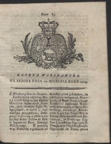 Gazeta Warszawska. R.1774 Nr 64