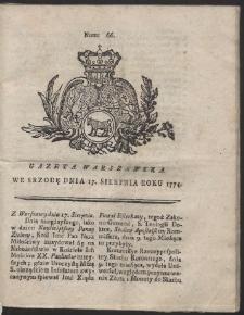Gazeta Warszawska. R.1774 Nr 66