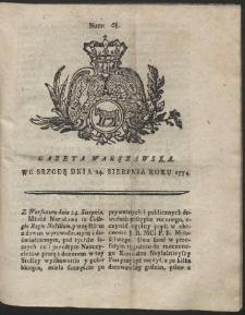 Gazeta Warszawska. R.1774 Nr 68