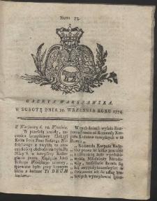 Gazeta Warszawska. R.1774 Nr 73