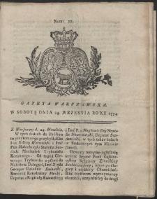 Gazeta Warszawska. R.1774 Nr 77
