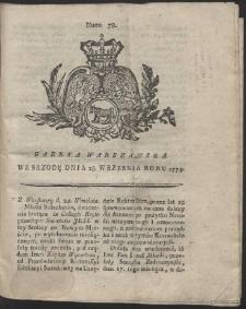 Gazeta Warszawska. R.1774 Nr 78