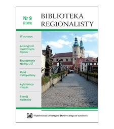 Spis treści [Biblioteka Regionalisty, 2009, Nr 9]