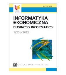 Table of contents [Informatyka Ekonomiczna = Business Informatics, 2012, Nr 1 (23)]