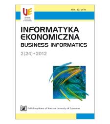 Table of contents [Informatyka Ekonomiczna = Business Informatics, 2012, Nr 2 (24)]
