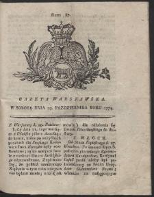 Gazeta Warszawska. R.1774 Nr 87