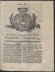Gazeta Warszawska. R.1774 Nr 88