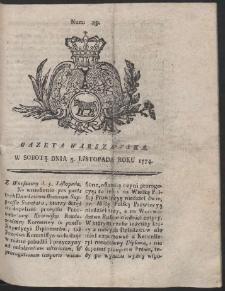 Gazeta Warszawska. R.1774 Nr 89
