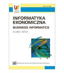 Spis treści [Informatyka Ekonomiczna = Business Informatics, 2012, Nr 4 (25)]