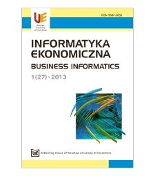 Contents [Informatyka Ekonomiczna = Business Informatics, 2013, Nr 1 (27)]